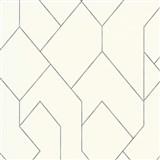 Vliesové tapety na zeď Graphics & Basics geometrický vzor šedý na krémovém podkladu
