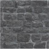 Vliesové tapety na zeď Eyecatcher kamenná zeď tmavě šedá