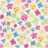 Vliesové tapety na zeď Prime Time II drobné květiny modro-hnědé