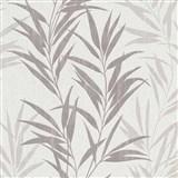 Vliesové tapety na zeď Mix Up bambusové listy šedé a bílé