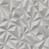 Vliesové tapety na zeď Mix Up 3D jehlany šedé