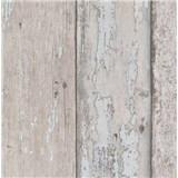 Papírové tapety na zeď dřevěné desky hnědé