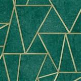 Vliesové tapety na zeď IMPOL Exposure SOHO zelené se zlatými švy