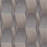 Vliesové tapety na zeď G.M.K. Fashion for walls 3D hrany hnědo-stříbrné