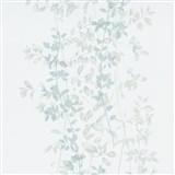 Vliesové tapety na zeď G.M.K. Fashion for walls popínavé lístky zeleno-šedé na krémovém podkladu