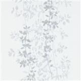 Vliesové tapety na zeď G.M.K. Fashion for walls popínavé lístky šedé na bílém podkladu