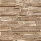 Vliesové tapety na zeď IMPOL Finesse 3D dřevo hnědé