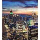 Vliesové fototapety New York mrakodrapy rozměr 225 cm x 250 cm