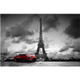 Vliesové fototapety retro vůz v Paříži rozměr 375 cm x 250 cm