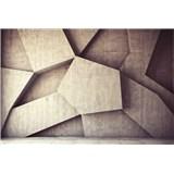 Vliesové fototapety 3D geometrické tvary rozměr 375 cm x 250 cm