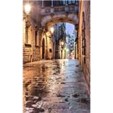 Vliesové fototapety starobylé ulice rozměr 150 cm x 250 cm