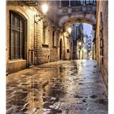 Vliesové fototapety starobylé ulice rozměr 225 cm x 250 cm
