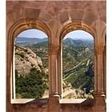 Vliesové fototapety oblouková okna rozměr 225 cm x 250 cm