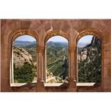 Vliesové fototapety oblouková okna rozměr 375 cm x 250 cm