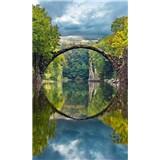 Vliesové fototapety obloukový most rozměr 150 cm x 250 cm