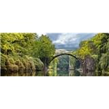 Vliesové fototapety obloukový most rozměr 375 cm x 150 cm