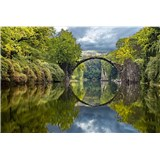 Vliesové fototapety obloukový most rozměr 375 cm x 250 cm