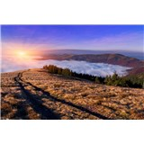 Vliesové fototapety svítání v horách rozměr 375 cm x 250 cm