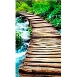 Vliesové fototapety most přes potok rozměr 150 cm x 250 cm
