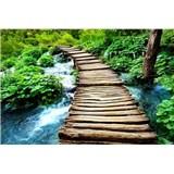 Vliesové fototapety most přes potok rozměr 375 cm x 250 cm