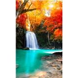 Vliesové fototapety lesní vodopád rozměr 150 cm x 250 cm