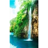 Vliesové fototapety vodopád ve skalách rozměr 150 cm x 250 cm