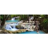 Vliesové fototapety vodopády rozměr 375 cm x 150 cm