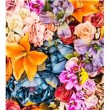 Vliesové fototapety vintage květy rozměr 225 cm x 250 cm