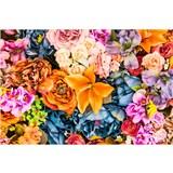 Vliesové fototapety vintage květy rozměr 375 cm x 250 cm