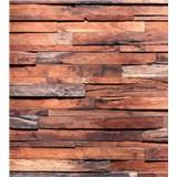 Vliesové fototapety dřevěná stěna rozměr 225 cm x 250 cm