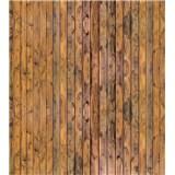 Vliesové fototapety stěna z prken rozměr 225 cm x 250 cm