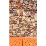 Vliesové fototapety kamenná stěna rozměr 150 cm x 250 cm