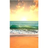 Vliesové fototapety slunce v moři rozměr 150 cm x 250 cm