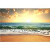 Vliesové fototapety slunce v moři rozměr 375 cm x 250 cm