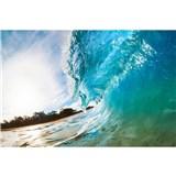Vliesové fototapety vlny oceánu rozměr 375 cm x 250 cm