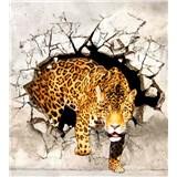 Vliesové fototapety levhart rozměr 225 cm x 250 cm