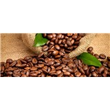 Vliesové fototapety kávová zrnka rozměr 375 cm x 150 cm