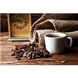 Vliesové fototapety hrníček s kávou rozměr 375 cm x 250 cm