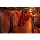 Vliesové fototapety sudy s vínem rozměr 375 cm x 250 cm