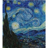 Vliesové fototapety hvězdná noc - Vincent Van Gogh rozměr 225 cm x 250 cm