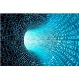 Vliesové fototapety binární proud rozměr 375 cm x 250 cm