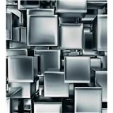 Vliesové fototapety kovové kostky rozměr 225 cm x 250 cm