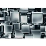 Vliesové fototapety kovové kostky rozměr 375 cm x 250 cm