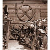 Vliesové fototapety Vintage garáž rozměr 225 cm x 250 cm