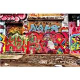 Vliesové fototapety graffiti ulice rozměr 375 cm x 250 cm