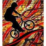 Vliesové fototapety bicycle red rozměr 225 cm x 250 cm
