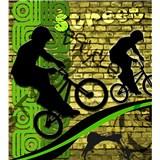 Vliesové fototapety bicycle green rozměr 225 cm x 250 cm