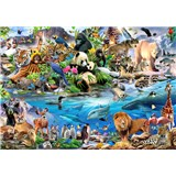 Vliesové fototapety galerie zvířátek rozměr 368 cm x 254 cm