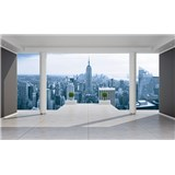 Fototapety 3D terasa s výhledem na město rozměr 368 cm x 254 cm