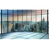 Fototapety 3D New York Pohled z mrakodrapu rozměr 368 cm x 254 cm